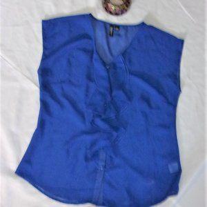 relativity blue  shirt tee tank top sheer sexy